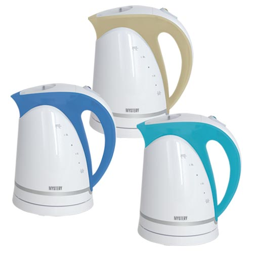 Electric Kettle Mystery MEK-1616 White/Aqua