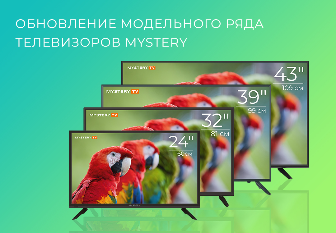 Обновление модельного ряда телевизоров Mystery в 2020 году