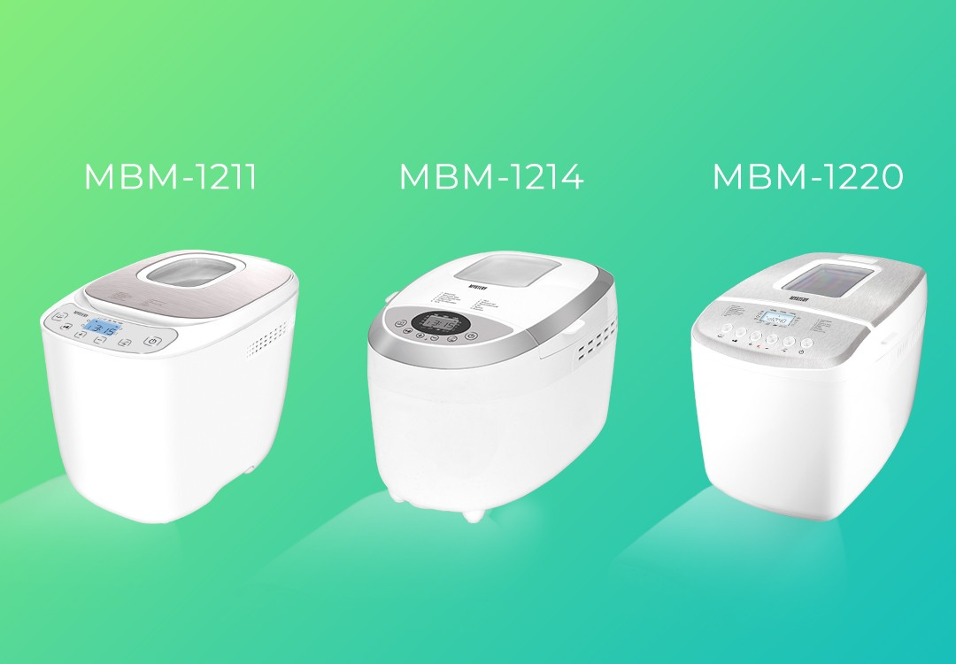 New Mystery Bread Machines – MBM-1211, MBM-1214, MBM-1220